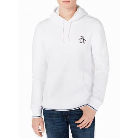 Original Penguin Mens Sweater White Size 2XL Embroidered Pullover