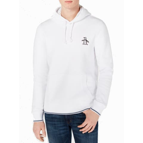 Original Penguin Mens Sweater White Size Large L Embroidered Pullover