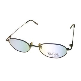 Bob Mackie Opthalmic Eyeglass Hexagon Metal BM780 Matte Gold Tortoise