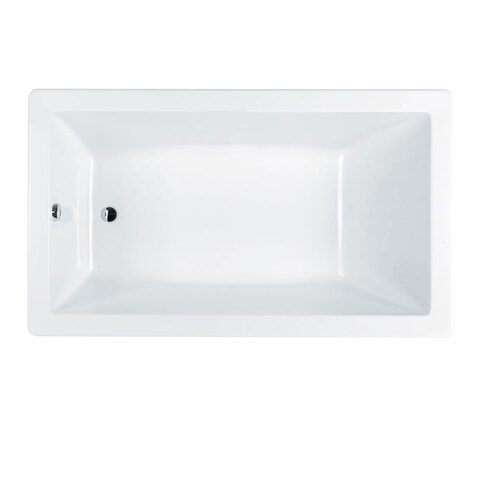 "Jacuzzi J6D7236BUXXXXW Signature 72"" Drop In Acrylic Soaking Tub with Reversible - White - N/A"