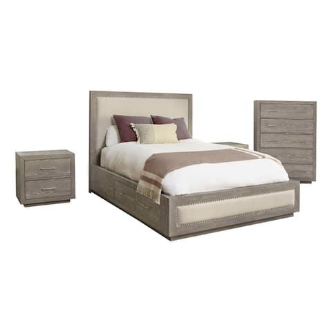 Abbyson Canterbury Wood Storage 4 Piece Bedroom Set