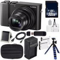 Panasonic LUMIX 4K DMC-ZS100 Digital Compact Camera (Black) + 32GB SDHC Class 10 Memory Card Tripod Bundle