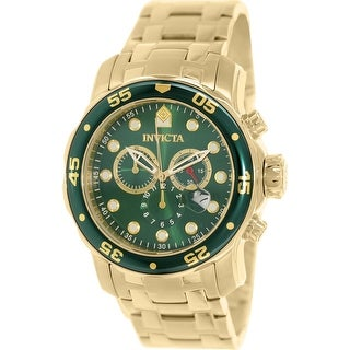 Link to Invicta Men's Pro Diver0 Gold Stainless-Steel Plated Diving Watch Similar Items in Men's Watches
