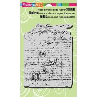 "Stampendous Cling Stamp 4""X6""-Vintage Letter"