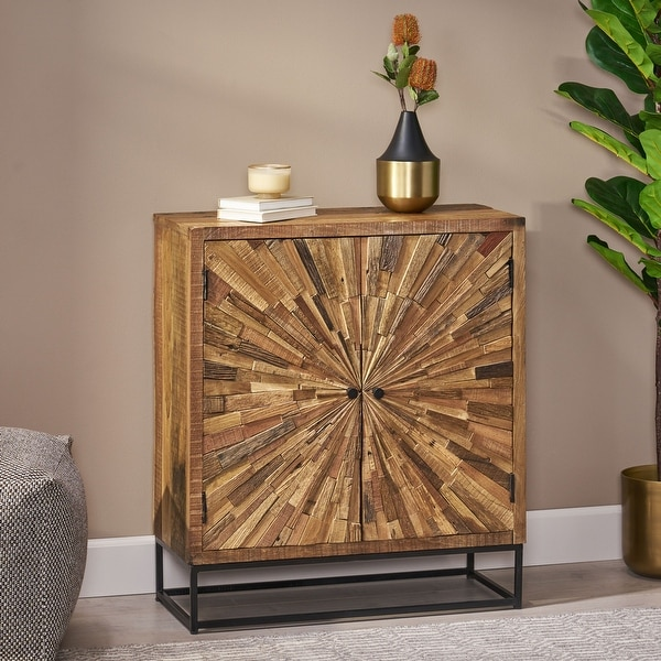 Carolina Recycled Wood Cabinet by Christopher Knight Home. Opens flyout.