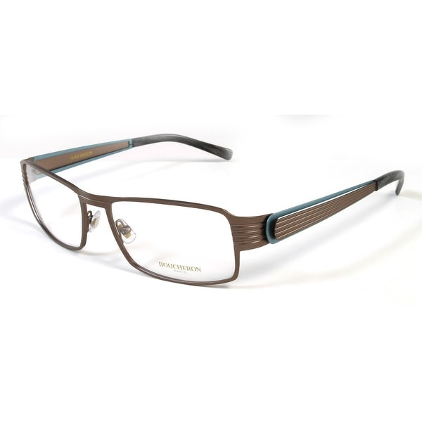 Boucheron Unisex Rectangular Eyeglasses Brown/Multi - Black - S