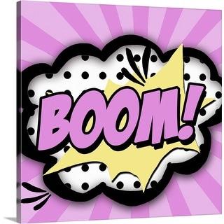 """Boom!"" Canvas Wall Art"