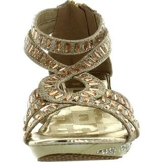 Lucita Girls Dress Shoes Jan-308Km Party Heels Glitter Rhinestone Strappy Sandals