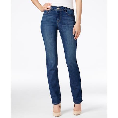 Style & Co Women's Plus Size Tummy-Control Slim-Leg Jeans Blue Size 24 W