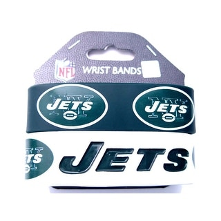 New York Jets Rubber Wrist Band (Set of 2) NFL