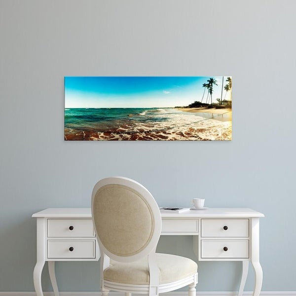 Easy Art Prints Panoramic Images's 'Surf on the beach, Morro De Sao Paulo, Tinhare, Cairu, Bahia, Brazil' Canvas Art