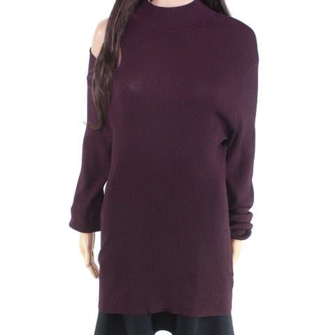 Rachel Rachel Roy Women's Sweater Purple Size 2X Plus Mock-Neck