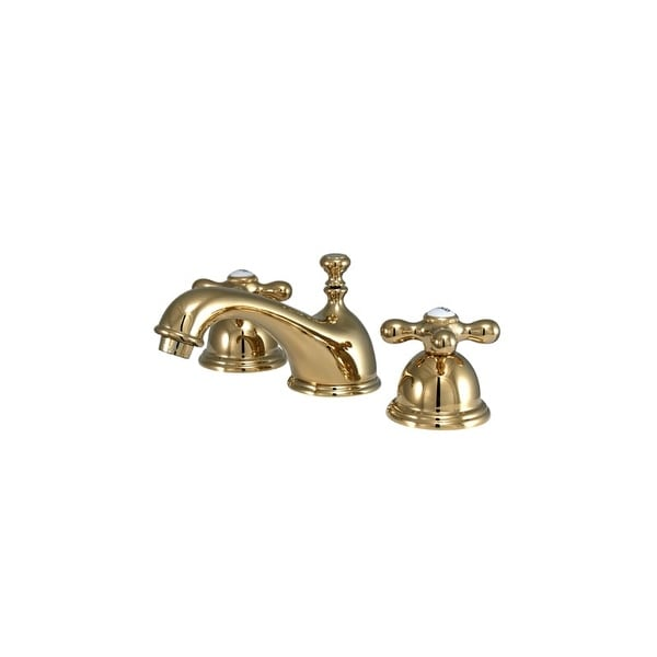 """Elements Of Design ES3962AX Double Handle 8"""" to 16"""" Widespread Bathroom Faucet with American Cross H"""
