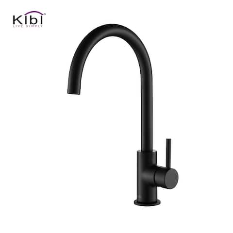 Lead Free Solid Brass High Arc Single Level Bar Prep Kitchen Faucet with Single Handle