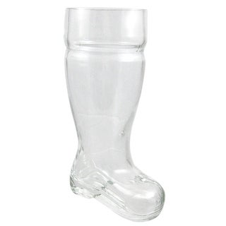 One Liter Heavy Glass Beer Boot Pitcher Mug