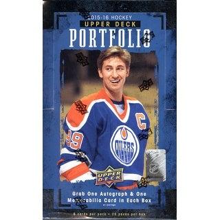 2015-16 Upper Deck Portfolio NHL Hockey Hobby Box - 2 Hits Per Box!