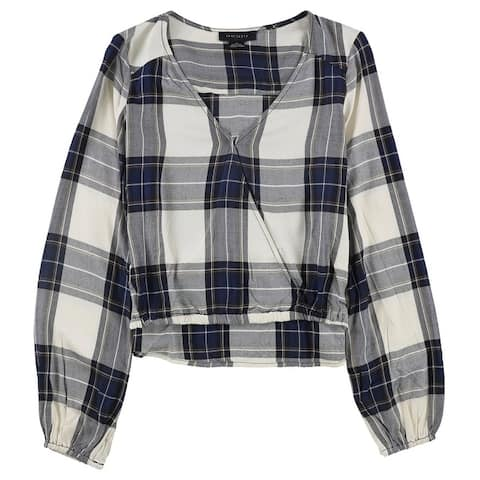 Sanctuary Clothing Womens Plaid Pullover Blouse