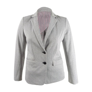 Link to Tommy Hilfiger Women's Notched-Lapel Blazer (10, Charcoal Ivory) Similar Items in Suits & Suit Separates