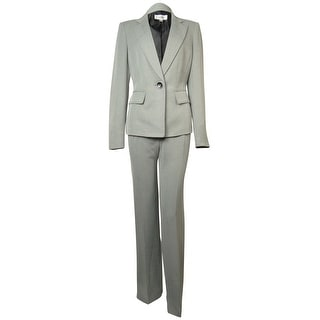 Le Suit Women's Pleated Woven Vienna Pant Suit