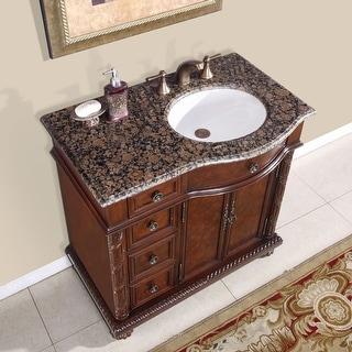 Link to Silkroad Exclusive Sanger Bathroom Single Sink Vanity Similar Items in Bathroom Vanities