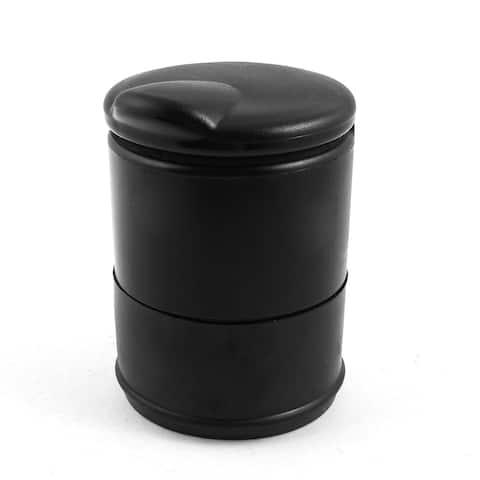 Smokeless Cylinder Shape Ashtray Black Dark Green