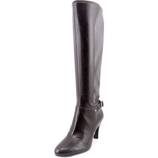 Naturalizer Britta Wide Calf Women W Round Toe Synthetic Black Knee High Boot
