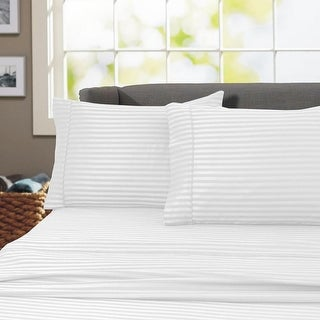 Link to Porch & Den Jericho Stripe 600 Thread Count Egyptian Cotton Bed Sheet Set Similar Items in Bed Sheets & Pillowcases