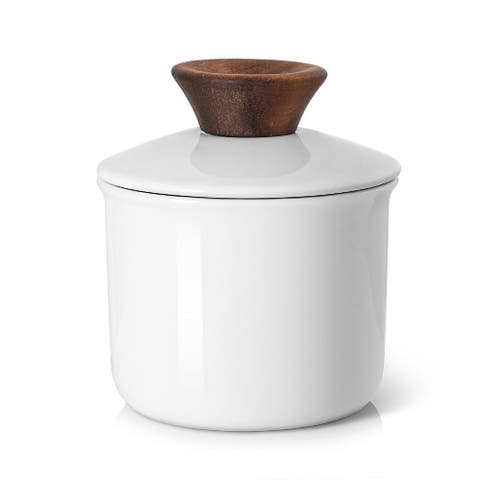 DOWAN Butter Dish with wood lid