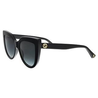 GUCCI GG0164S 001 Black Cateye Sunglasses