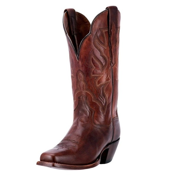 Dan Post Western Boots Womens Darby Square Toe Brown Chocolate DP3693