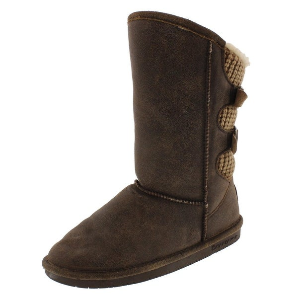 926b2c6ad8be Shop Bearpaw Womens Boshie Mid-Calf Boots Suede Knit - Ships To ...