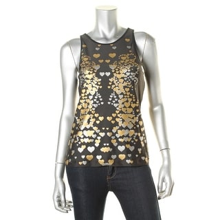 Rowley Fitness Womens Metallic Graphic Tank Top