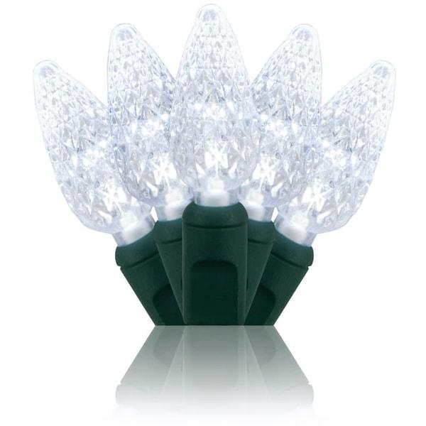 Wintergreen Lighting 20292 70 Bulb C6 Cool White LED Christmas Lights