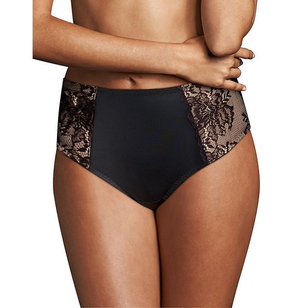cbf2d868c61 Shop Maidenform Sexy Lace Light Control Thong - Color - Black w Body Beige  Lining - Size - L - Free Shipping On Orders Over  45 - Overstock - 22705782