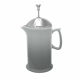 Link to Chantal Ceramic French Press with Stainless Steel Plunger and Lid (Faded Gray) - faded grey Similar Items in Cooking Essentials
