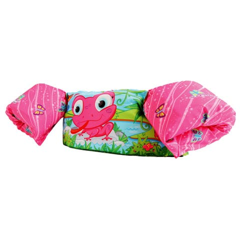 Stearns puddle jumper deluxe pink frog