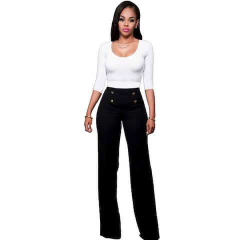 Women's Fashion Slim Personality Double-Breasted Trousers Five Colors