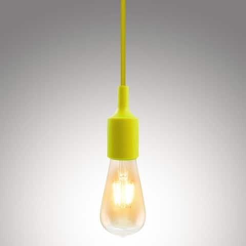 Single Socket Pendant Light Fixture, Multi-Color Options