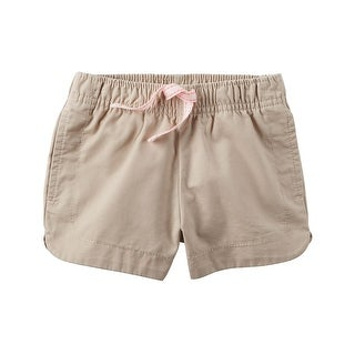 Carter's Little Girls' Cinch-Up Twill Short, 2-Toddler