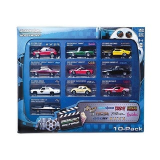 Hollywood 10-Car Collector Case Set Series 1 1/64 Diecast Model Car by Greenlight