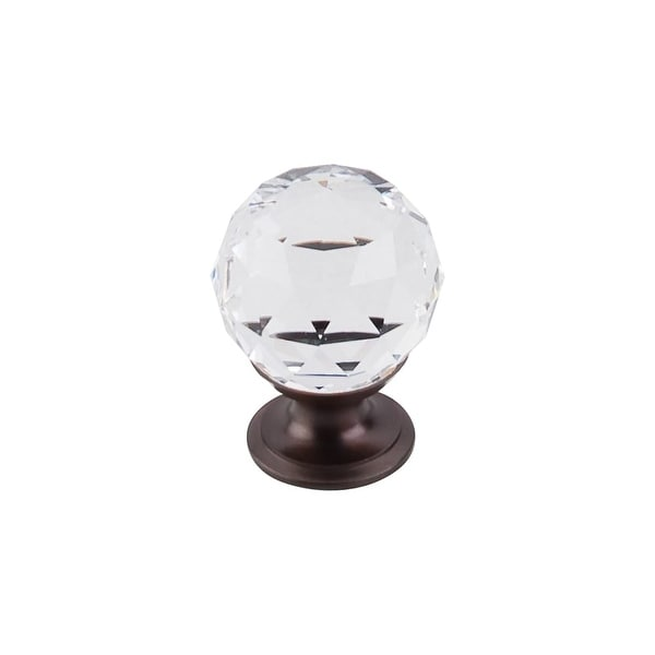 """Top Knobs TK125 Clear 1-1/8"""" Diameter Round Cabinet Knob from the Crystal Series - n/a"""