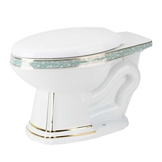 Toilet Part White/Gold/Blue Sheffield Deluxe Bowl Only Renovator's Supply