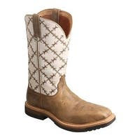 Twisted X Boots Women's WLCA001 Lite Cowgirl Alloy Toe Work Boot Bomber/White Leather