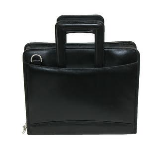 Winn International Leather 3 Ring Binder Portfolio with Shoulder Strap, Black|https://ak1.ostkcdn.com/images/products/is/images/direct/717bd58eaa5c8488f20345ab43ca1da0d38e6326/Winn-International-Leather-3-Ring-Binder-Portfolio-with-Shoulder-Strap%2C-Black.jpg?impolicy=medium