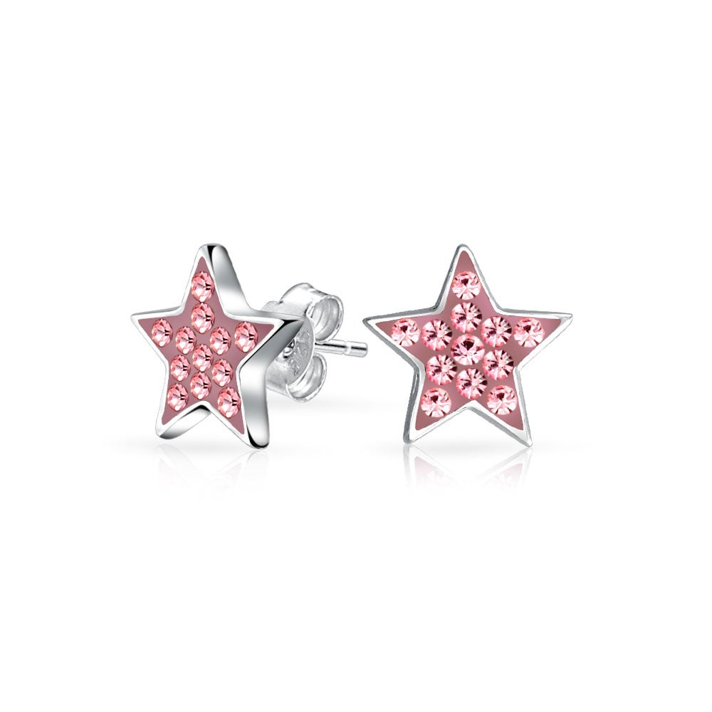 Childrens 925 Sterling Silver Crystal Ear Studs So Chic Jewels