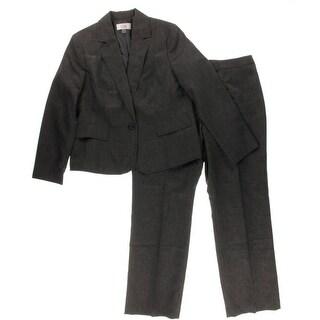 Le Suit Womens Plus Lined Woven Pant Suit - 16