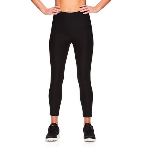 Reebok Womens High Rise Capri Leggings Yoga Pants