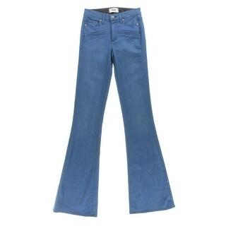 Paige Womens Bell Canyon High Waist Bell Bottoms Wide Leg Jeans