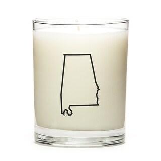 Custom Gift - Map Outline of Alabama U.S State, Lavender