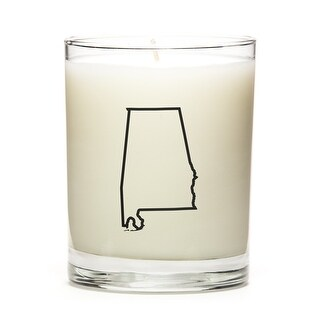 Custom Gift - Map Outline of Alabama U.S State, Pine Balsam